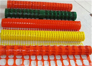 Tinggi Visablity Orange Plastic Safety Fence Dengan Barrier Tape / Traffic Cones